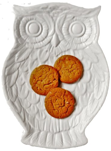 Boston International October Hill Owl Plate, Light Grey