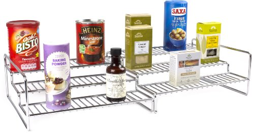 Andrew James 3 Tier Extendable Step Up Shelf Storage System