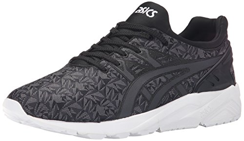 ASICS GEL-Kayano Trainer Evo Retro Running Shoe, Black/Dark Grey, 9 M US