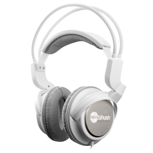 Noisehush Nx22R-12012 3.5Mm Stereo Headphones With In-Line Mic Rubberized For Ipad/Iphone/Ipod/Mp3 Music Players, White