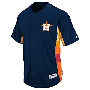 MLB Houston Astros Youth Batting Practice On Field Jersey, Navy Rainbow by Majestic