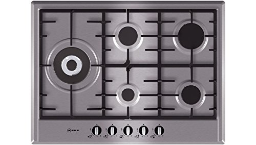 Neff T25S76N0 Series 1 Five Burner 70cm Gas Hob in Stainless Steel