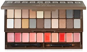 NYX Nude On Nude Palette,  20 Eye Shadows, 10 Lip Colors, Applicator/Mirror