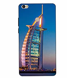 Case Cover Burj Khalifa Printed Sky Blue Hard Back Cover For Xiaomi Redmi MI MAX