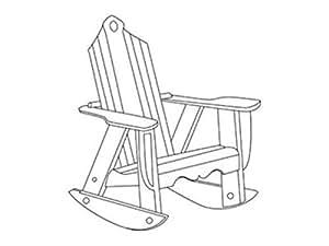 Uwharrie Chair 2012-013 Bridgehampton Outdoor Rocking Chair White