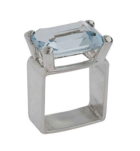 Rectangular Crystal Ring From the Crystal Collection Designed By Mauricio Serrano For Basic Jewelry