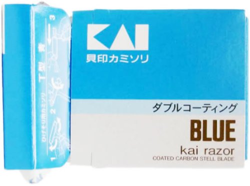 KAI T型カミソリ 青 5本