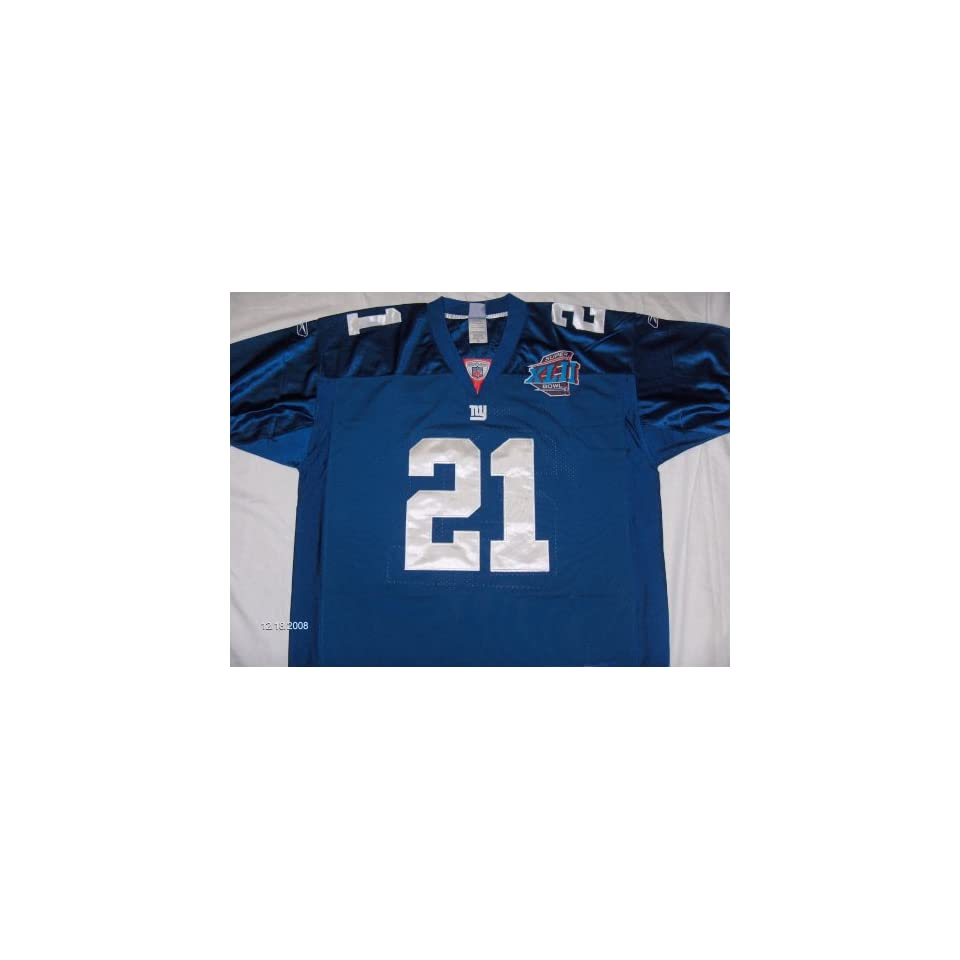 5dffbf53b NFL NEW YORK GIANTS TIKI BARBER JERSEY. SIZE 52 on PopScreen