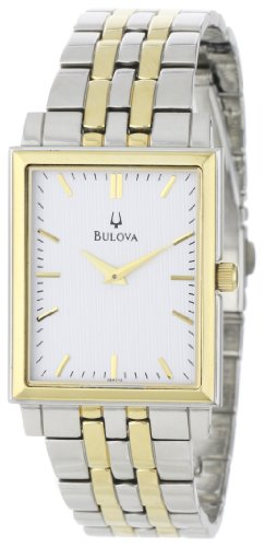 Bulova Men's 98A115 Classic Two-Tone Tank Watch