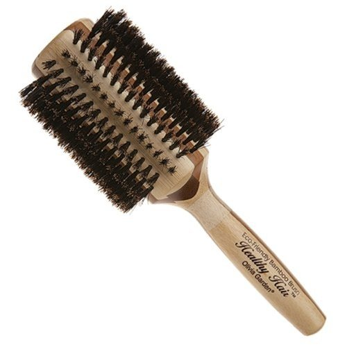 Olivia Garden Healthy Hair Eco-Friendly Bamboo Round Boar Bristle Brush (3 1/4)