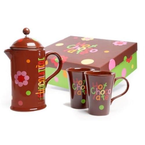 La Cafetiere Chocolatiere Hot Chocolate Gift Set, Funky Design