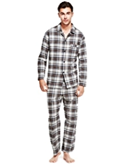 Pure Brushed Cotton Checked Pyjamas