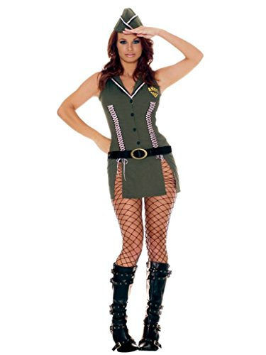 Elegant Moments Womens Army Brat Military Outfit Fancy Dress Sexy Costume