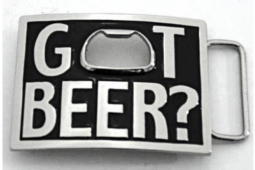 Got Beer? Cerveza Bottle Opener Square Belt Buckle