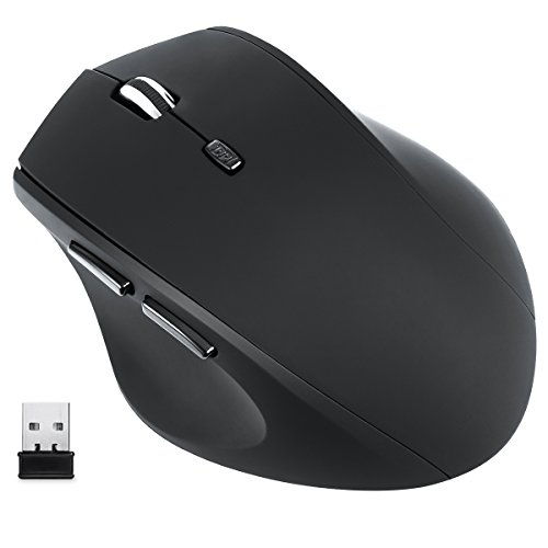 Wireless Mouse, Amir® 2.4GHz Wireless Optical Mouse with Nano Receiver, 3 Adjustable DPI Levels (1000/1200/1600), Auto Sleep Mouse with Side Control For PC/ Laptop/ Desktop/ Notebook/ Windows/ Mac Review