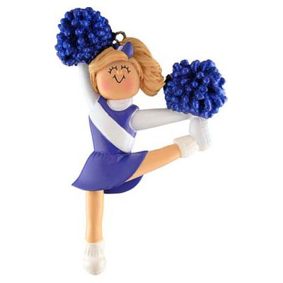 Blue Uniform Cheerleader Figurine