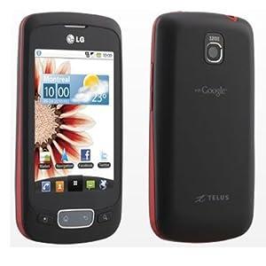 UNLOCKED LG Optimus One P500H 3G Phone BLACK with RED Border, Google