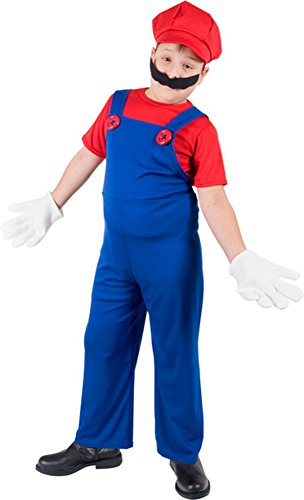 Childs Super Mario Brothers Costume Size: Youth Medium 7-10
