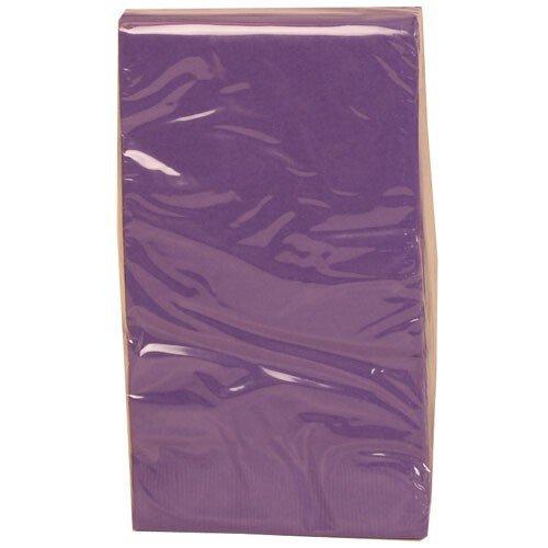 Jam Paper® - Purple Rectangular Paper Party Napkins / Paper Guest Towels - 8 X 4.5 - 16 Napkins Per Pack