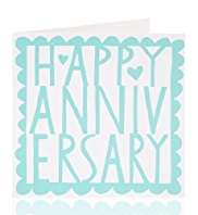 Bold Anniversary Greetings Card
