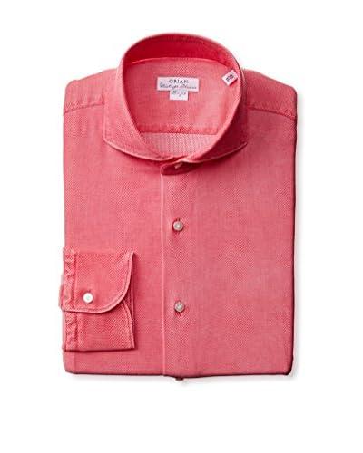 Orian Men's Slim Fit Honeycomb Dress Shirt