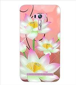PrintDhaba FLOWERS PATTERN D-6659 Back Case Cover for ASUS ZENFONE SELFIE ZD551KL (Multi-Coloured)