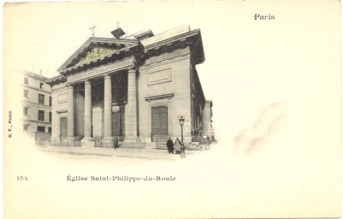 1900 Vintage Postcard - Church of Saint Philippe