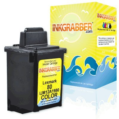 InkGrabber © Lexmark 12A1980 Remanufactured Ink Cartridges - Compatible With: Compaq A 900, Compaq IJ 300, Compaq IJ 900, Compaq IJ 700, Compaq IJ 750, Jetprinter 5770, Jetprinter 7200V, Jetprinter 7200, Jetprinter 5700, Jetprinter 5000, Jetprinter 7000, Optra Color 40, Optra Color 45, Optra Color 45N, Jetprinter 3200, Kodak PM 100, Kodak PM 1000, Z 11, Z 31, Jetprinter 7000V (Lexmark 900 Ink compare prices)