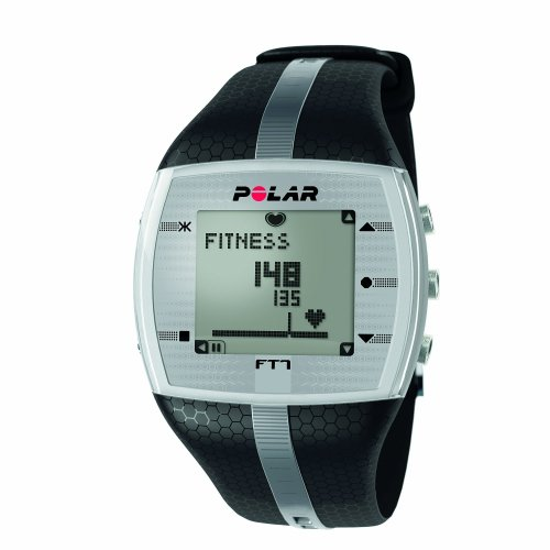 Polar FT7 Men's Heart Rate Monitor Watch (Black / Silver)