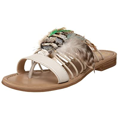House of Harlow 1960 Women's Sydney Peacock Sandal,Cream,6.5 M US