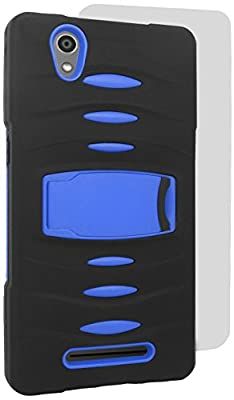 Eagle Cell Hybrid Armor Protective Case Stand with Built-In Screen Protector for ZTE Zmax Z970 from Eagle Cell