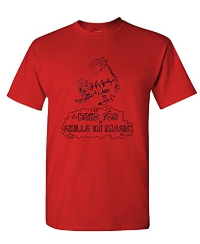 THE LIGER - BRED FOR SKILLS IN MAGIC - Mens Cotton T-Shirt, L, Red (Napoleon Dynamite Vote For Pedro)