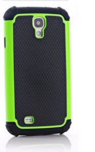 CaseMore Green Plastic + Silicon Material Protective Armor Case for Samsung Galaxy S4 S IV i9500