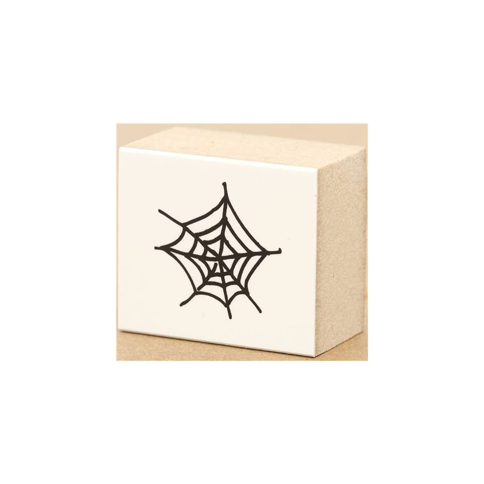 Halloween Pre Inked Rubber Stamp   SPIDER WEB