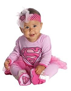 Supergirl Costume, Kids Supergirl Classic Onesie Costume, Infant, 6 - 12 months