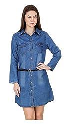 Brand Me Up Women's Dress (BMU-CL155--XL, Blue, X-Large)