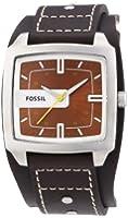 Fossil - JR9990 - Montre Homme - Quartz Analogique - Cadran Marron - Bracelet de Force Cuir Marron