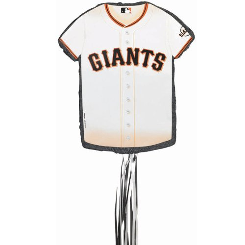 Lets Party By YA OTTA PINATA San Francisco Giants Baseball   Shirt Shaped Pull String Pinata