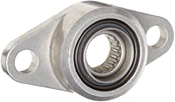 Spyraflo HF3-16M-N Self-Aligning, Needle-Roller Bearing With Aluminum 2-Bolt Hole, 16 mm Inner-Diameter Housing-Flange
