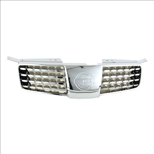 CarPartsDepot, Front Grill Grille Replacement New Chrome Frame Shell Body Part, 400-36999 NI1200203 620707Y00A (2005 Maxima Emblem compare prices)