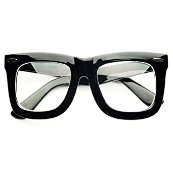 Glasses Frames Thick Black : Amazon.com: Large Retro Fashion Nerd Geek Style Thick ...