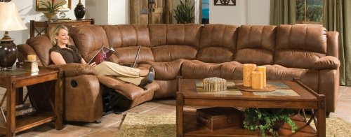 Sectional Sofa in Medium Brown Microfiber - Coaster