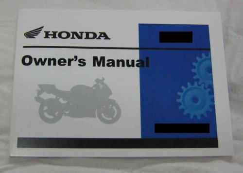 Honda Factory Owners Manual / 2007 CBR600RR (A/CE) Owner Manual / Pt # 31MFJ600