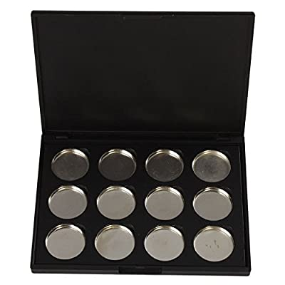 Leegoal DIY 12 PCS 26mm Empty Magnetic Cosmetics Makeup Eyeshadow Eye Shadow Aluminum Palette Pans