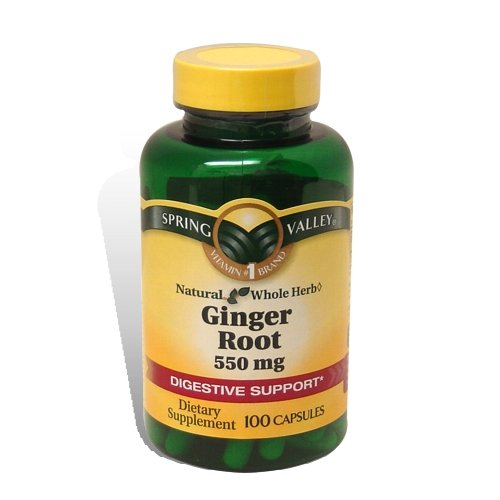 Spring Valley - Ginger Root 550 Mg, 100 Capsules