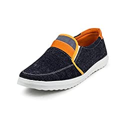 PAN Mens G14 ORANGE Fabric Casual Shoe-9 UK