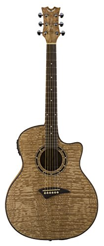 Dean Exotica Acoustic-Electric Guitar, Quilted Ash Satin Natural