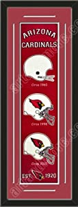 Heritage Banner Of Arizona Cardinals With Team Color Double Matting-Framed Awesome... by Art and More, Davenport, IA