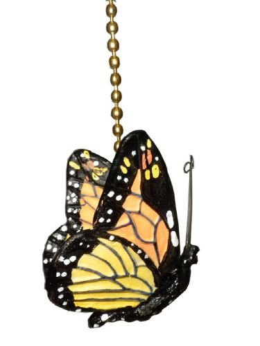 monarch Butterfly Ceiling Fan Pull Chain Ornament Decor (Bathroom Ceiling Fan Accessories compare prices)