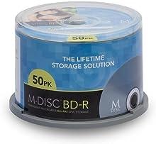 Millenniata M-DISC BD-R en blanco 50 por paquete (velocidad 4x, 25 GB, husillo 50)